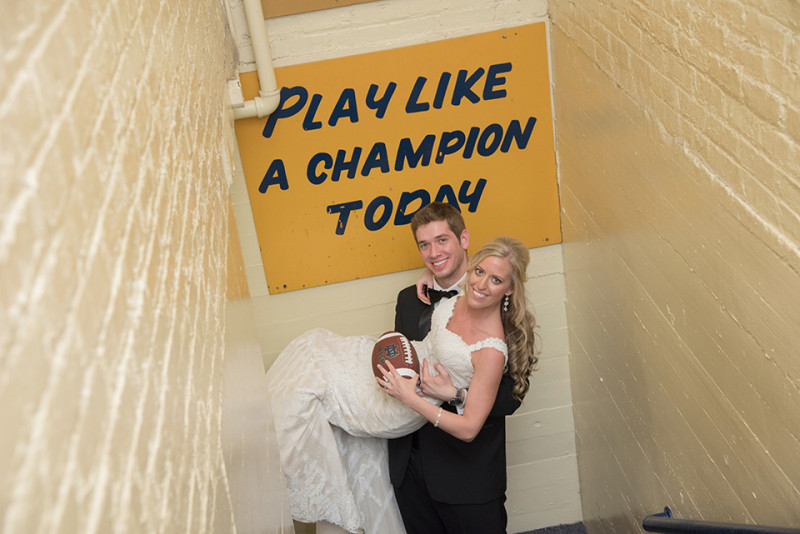 wedding photography notre dame university-